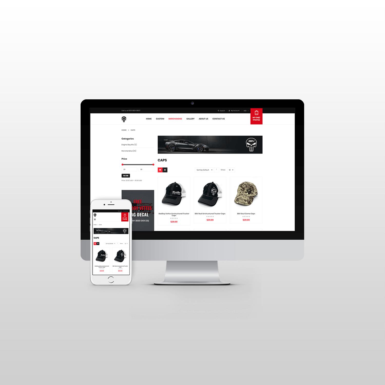 BBVCustoms Website Design itsjtaM