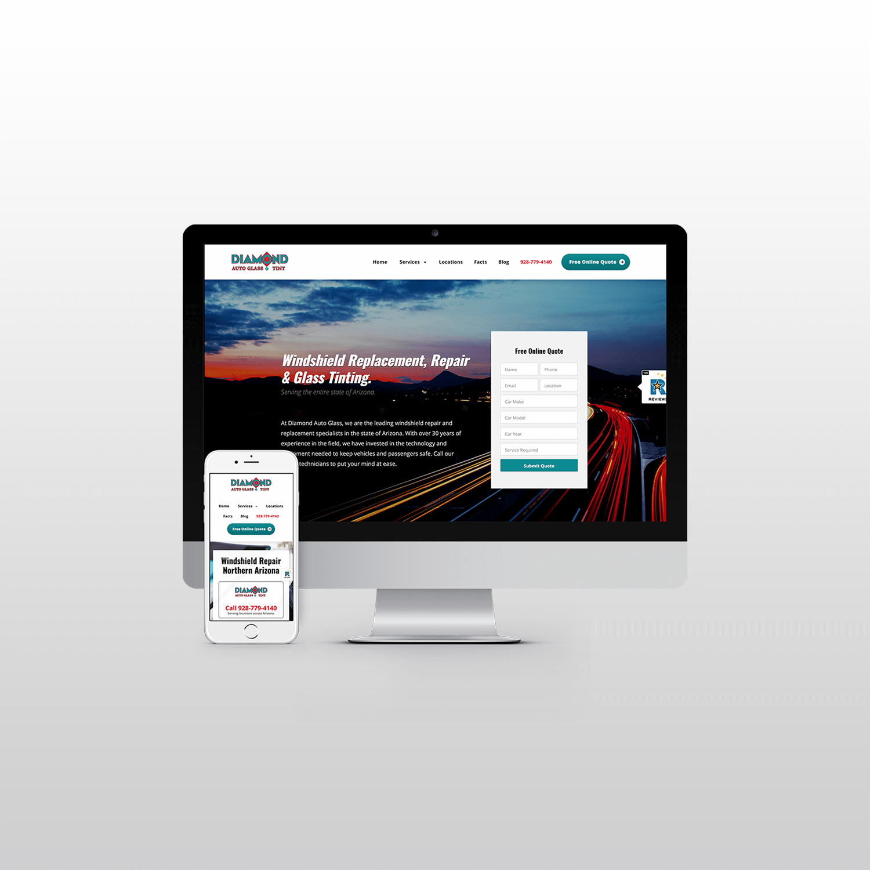 Diamond Auto Glass Website Design itsjtaM