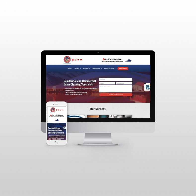 Freedom Plumbers Website Design itsjtaM