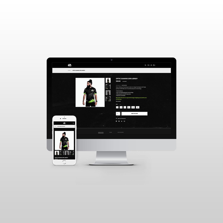 Optic Gaming Website Design itsjtaM