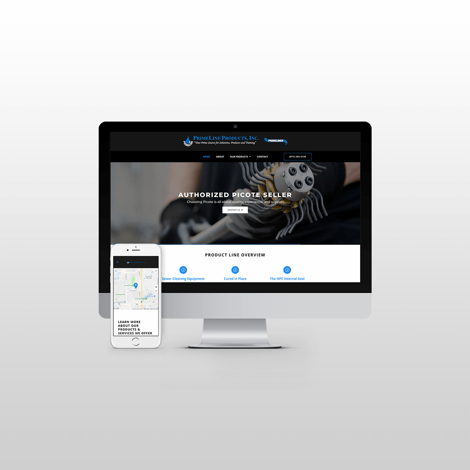 Primeline Products Website Design itsjtaM